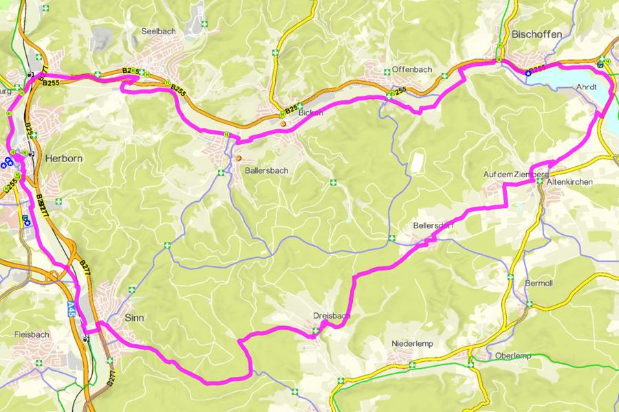 Radwanderweg RMV-Route 8 (38 km)