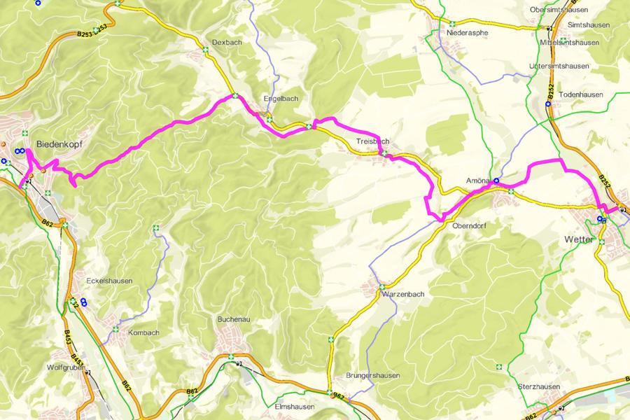 Radwanderweg Treisbachtal-Radweg (21 km)