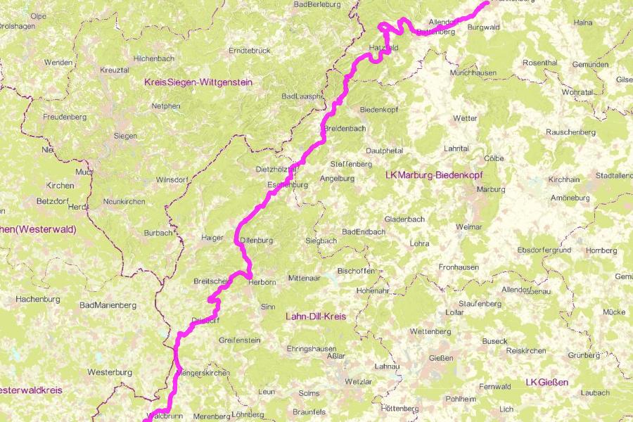 Radwanderweg R 8 – Hessen Radfernweg (271 km)