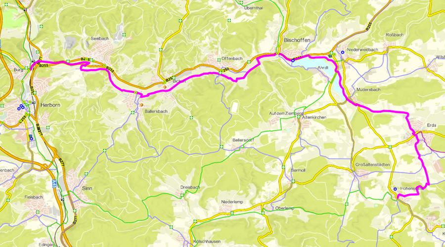 Radwanderweg Aartalseeradweg (24 km)